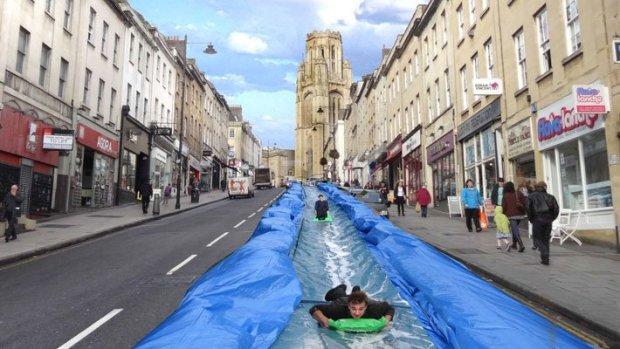 Park-Street-Bristol-water-slide